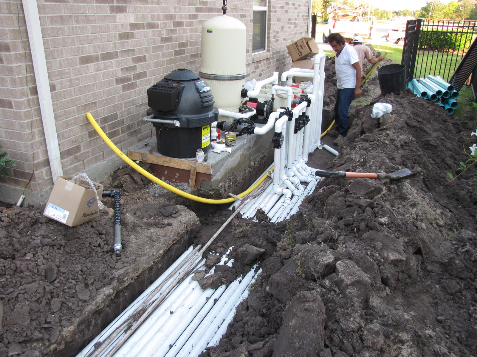 Pool Equipment Plumbing : Building your own swimming pool in katy texas aaron