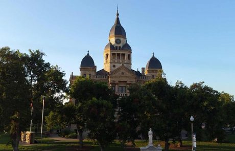 Denton Texas Courthouse at Dawn