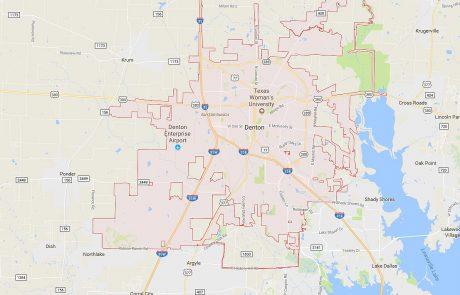 Denton Tx Real Estate Area Map