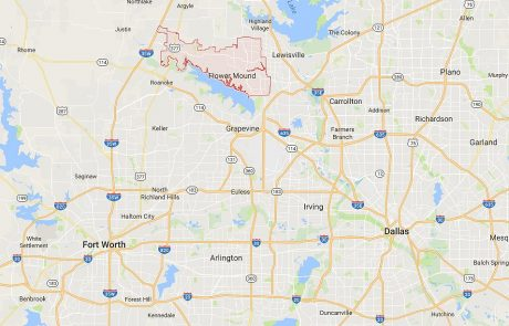 Flower Mound Tx in relation to Dallas and Fort Worth