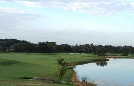 Oakmont Denton Texas Golf Course at Dawn