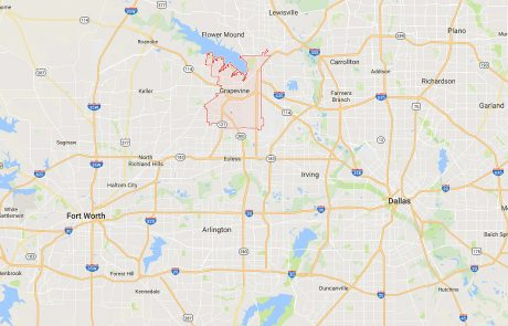 Grapevine Tx Location in Relation to Dallas and Fort Worth