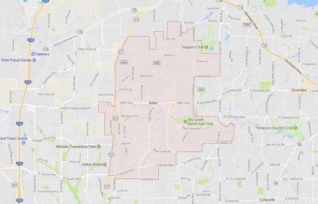 Keller Texas Real Estate Boundary Map