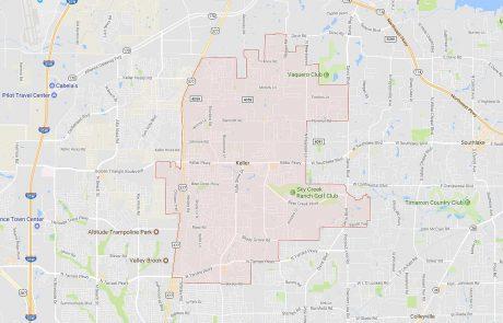 Keller Texas Real Estate Boundary Map