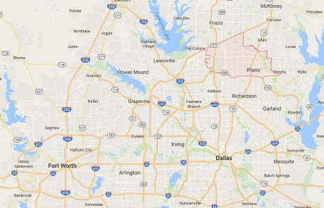 Plano Tx Location in Relation to Dallas and Fort Worth