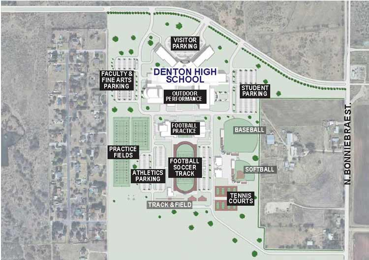 Denton-High-School-Aerial-Site-Plan