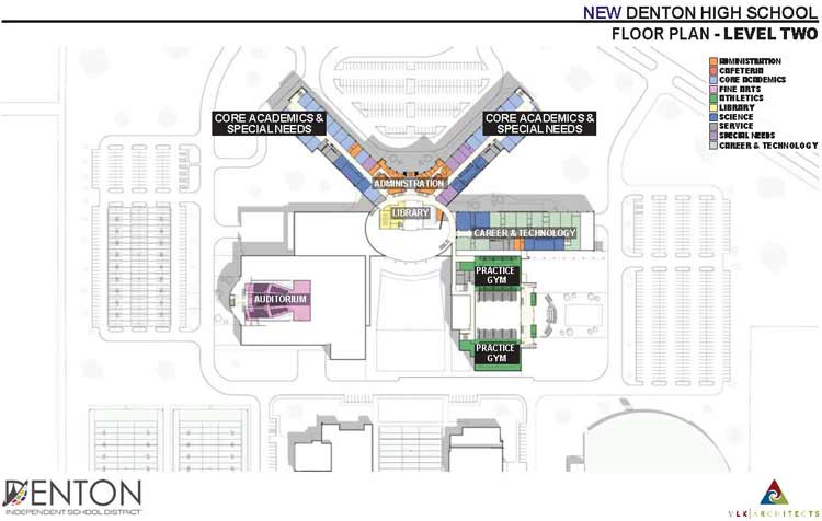 Dentonn-HIgh-School-Second-Floor-Plan