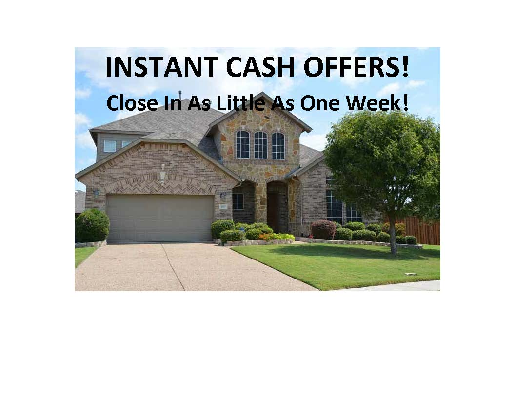 Instant Cash Offers For Homes Denton County TX