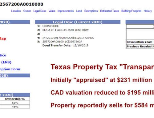 Sale of Pioneer Natural Resources Las Colinas Office Campus Destroys Property Tax Transparency Narrative
