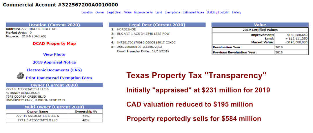 777 Hidden Ridge Property Tax Scam